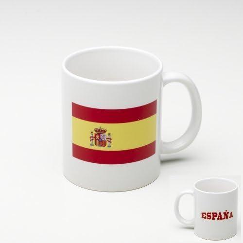Taza Mug de ceramica Espana - Bandera espanol: Amazon.es: Hogar