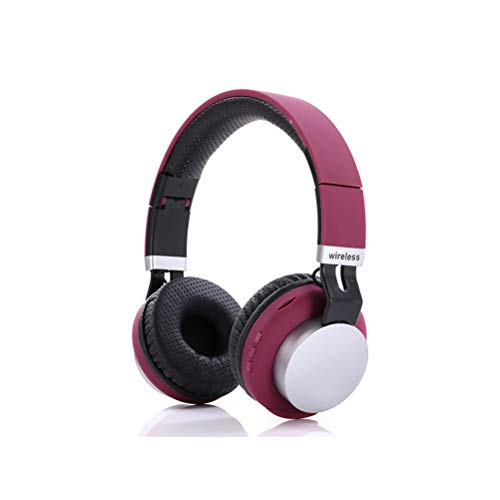 Sophia Active Noise Canceling Headphones Foldable Wireless Bluetooth Headset Built-in Microphone Hi-Fi Deep Bass Soft Memory Protein Earmuffs for Travel Time Game Time TV Computer Mobile Phone,Red