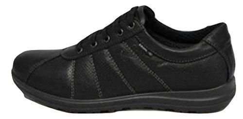 Enval Zapatillas de Piel Para Hombre Negro Negro