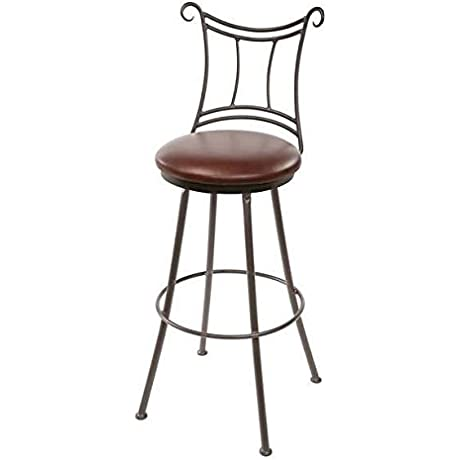 Waterbury Swivel Bar Stool 25 In Std Faux Leather In Rustico Clove 205712 OG 69909 O 281004 OG 142854 O 759857