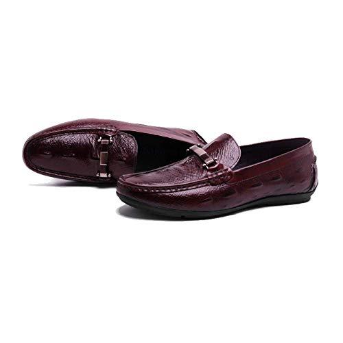 Pelle Confortevole Scarpe Pigri in Primavera da Scarpe Inglese Brown Scarpe Guida Stile da Traspirante Uomo Casual 1SYqxaw