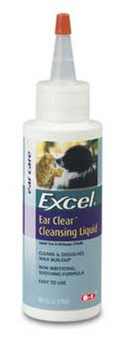 8 in 1 Excel Ear Cleansing Liquid for Dogs and Cats, 4 Ounce Bottle, My Pet Supplies