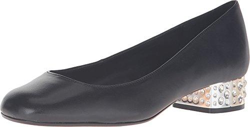 Dune London Women's Bijoux Black Leather Pump 38 (US Women's 7) (Dune Shoes)