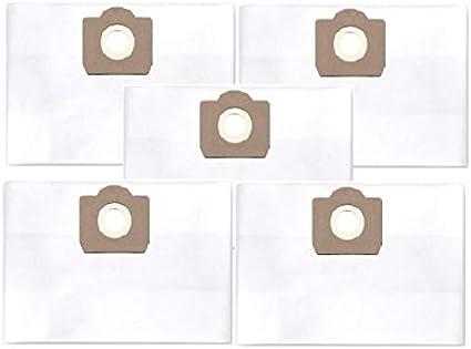 per Stanley STN 20P; 20S; 22X; 22XE; 35P; 50XE; 135; 135VE 5x sacchetti filtro antipolvere classe filtro M
