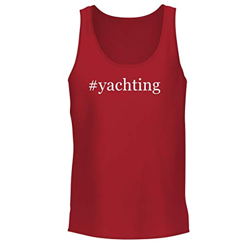 BH Cool Designs #Yachting - Men's Graphic Tank Top, Red, Small ()
