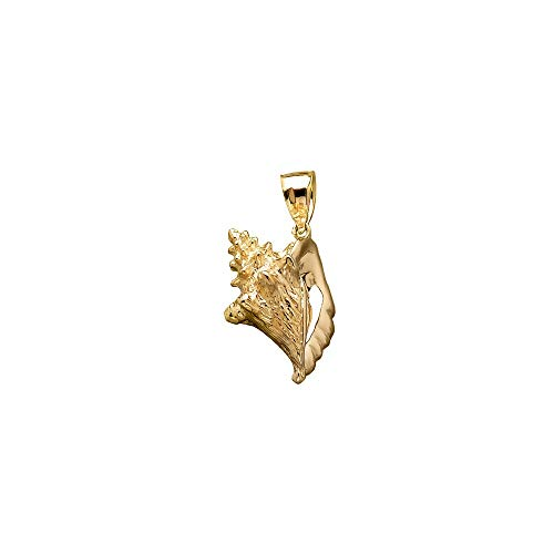 (Jewels By Lux 14K Yellow Gold 3D Conch Shell 5) Pendant)