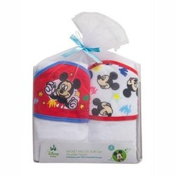 Mickey Mouse 2 Piece Hooded Towel Gift Set