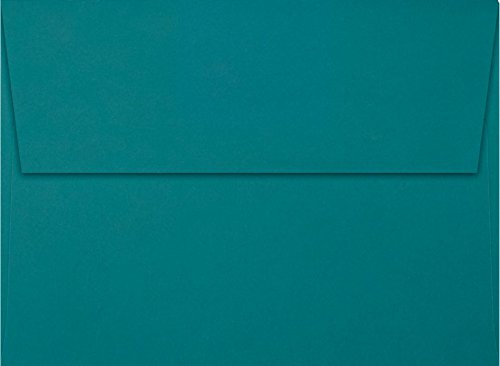 A6 Invitation Envelopes w/Peel & Press (4 3/4 x 6 1/2) - Teal (50 Qty) | Perfect for Invitations, Announcements, Sending Cards, 4x6 Photos | EX4875-25-50