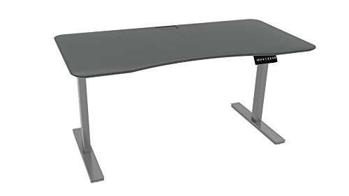 Ergo Elements Height Adjustable Electric Standing Desk with 60 Top 4 Memory Buttons LED Display, Grey with Grey Top