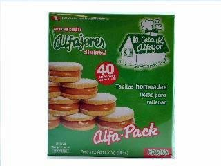 La Casa Del Alfajor Alfajores De Harina 515gr 4 Pack by La Casa Del Alfajor