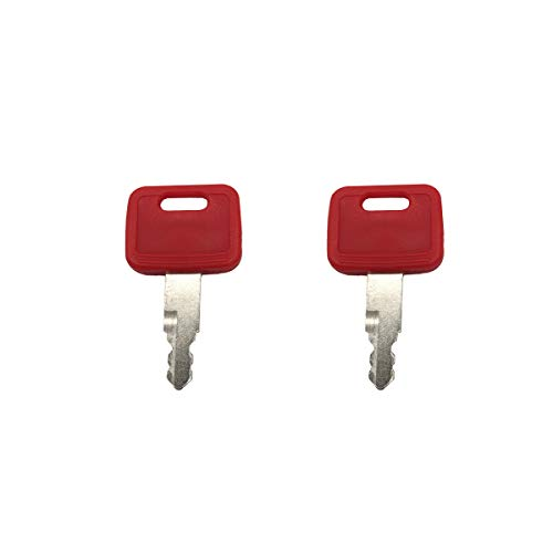 John Deere Key - 2 Pcs AT194969 AT147803 H800 Ignition Key fits Excavator John Deere Excavator Case Hitachi New Holland