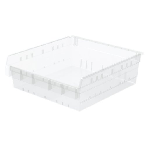 Akro-Mils 30824 ShelfMax 8 Plastic Nesting Shelf Bin Box, 24-Inch x 22-Inch x 8-Inch, Clear, 4-Pack by Akro-Mils