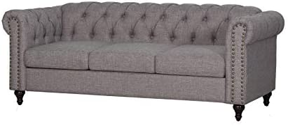 Kingway 3pcs Living Room Fabric Couch Sofas