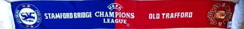Manchester United v Chelsea Official Match Scarf Champions League