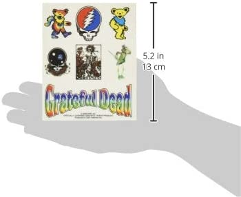 5 X 4 Long Lasting Sticker DECAL GRATEFUL DEAD Assorted Icons STICKER Sets Officially Licensed Classic Rock GDP Artwork