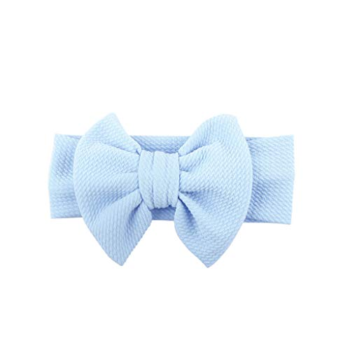 Baby Girls Headbands Baby Head Wraps Baby Headbands and Bows Knot Flower Leopard Printed headband (Blue)]()