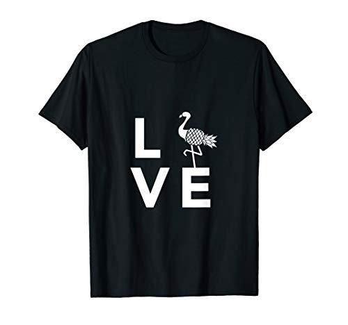 (Love Flamingo Cute T Shirt Vacation Pineapple for Women girl)