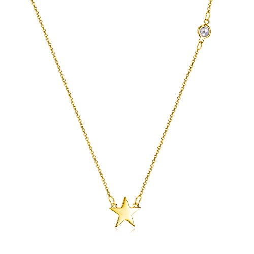 18k Star Necklace (Star Necklace in 18k Gold over Sterling Silver)