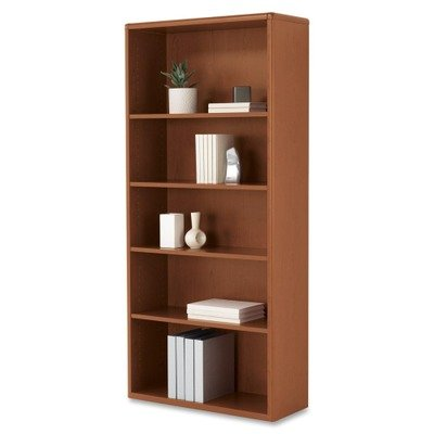 HON 107569JJ 10700 Series Wood Bookcase with Five-Shelves, 32.37 by 13.12 by (Elegant Cherry Wood Finish Series)