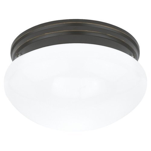 Sea Gull 5328-782 Stockholm 2-Light Heirloom Bronze Flush Mount Ceiling Fixture by Sea Gull Lighting (5328 Light)
