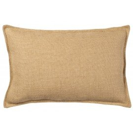 Washed Burlap Rectangle Plain Pillow Cover 14