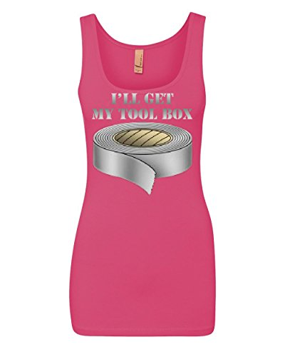 Price comparison product image I'll Get My Tool Box Tank Top Funny Duct Tape Top Pink XL
