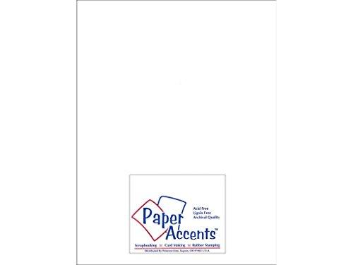 (Accent Design Paper Accents Chpbrd HVY Wht 2S 8.5x11 1X Heavy 50pt White 2 Side)