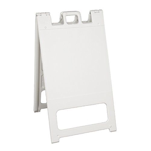 Squarecade 45 Portable Sign Stand, Color=White
