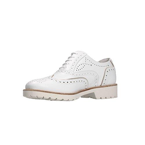Women's Giardini Lace White Bianco Flats Up Nero P805031D A75Bq