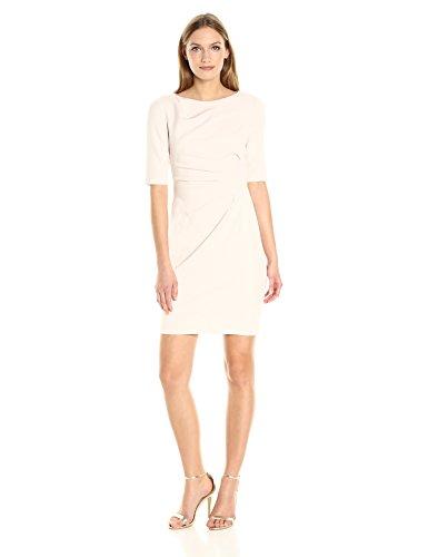 Johnson Almond Betsey Womens - Betsey Johnson Women's 3/4 Sleeve Scuba Crepe Sheath Dress, Almond, 6