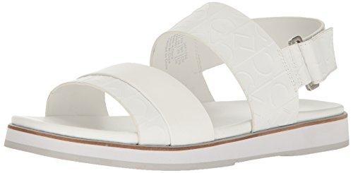 Calvin Klein Men's Dex Ck Emboss Leather Dress Sandal - W...