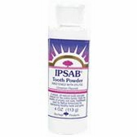 Heritage Products Ipsab Tooth Powder Cinnamon, Cinnamon 4 Oz by Heritage - Ipsab Heritage Powder Tooth