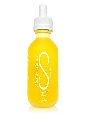 100% Organic Vitamin C Serum Face Oil – Premium 2 oz. by Cutis Sanus – Natural Advanced Skin Care Anti Aging Serum, For Dark Spots, Wrinkles & Fine Lines, Oily Skin & Acne Treatment, Collagen Boost