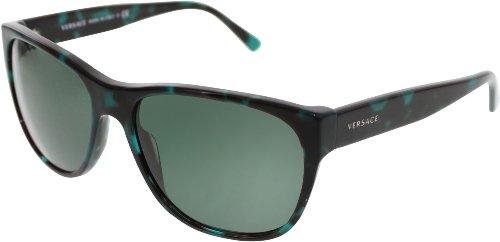 Versace VE4257 Sunglasses-507671 Green Havana (Gray Green - Sunglasses 2014 Versace