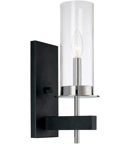 Sonneman 4060-54 One Light Sconce, Black