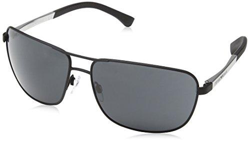 Emporio Armani EA2033 3094/87 Matte Black EA2033 Square Aviator Sunglasses Lens (Armani Emporio Sunglasses)