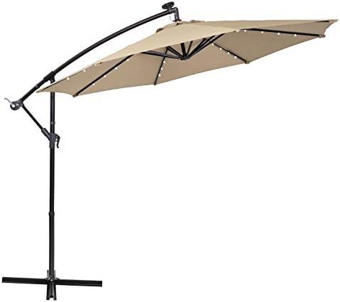 Sophia William 10' Offset Hanging Patio Umbrella