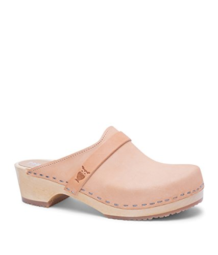 Swedish Low Heel Wooden Clog Mules for Women | Tokyo in Nude by Sandgrens, size US 8 EU - Shop To What In Tokyo