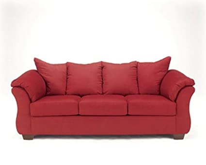 Darcy Salsa Red Sofa By Famous Brand