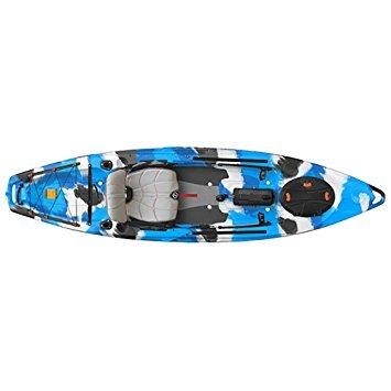 FeelFree Lure 11.5 Kayak w/ Sonar and Electronic Pod Blue Camo -  703510635297