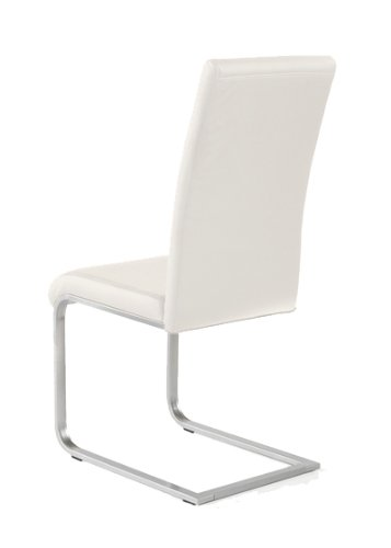 Kunstleder Piet Weiss 32 6 Design Stuhl Freischwinger Esszimmerstuhl X O0Pknw