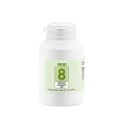 Schüssler Salz Nr. 8 Natrium chloratum D6 | 1000 Tabletten | Das Salz des Flüssigkeitshaushaltes | glutenfrei