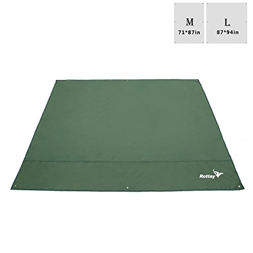 Rottay Waterproof Camping Tarp, Picnic and Beach Mat,Tent Footprint, and Sunshade,Hiking (L(87x94inches/220x240cm))