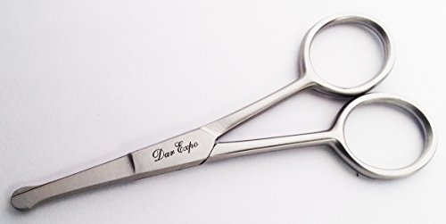 Nose Mustache Hair Scissors Ear Hair Trimming Safty Tip by Saga Beauty Care