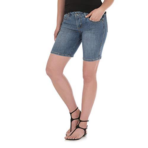 Wrangler Women's Aura Instantly Slimming Mid Rise Stretch Jean Short, Abilene 16