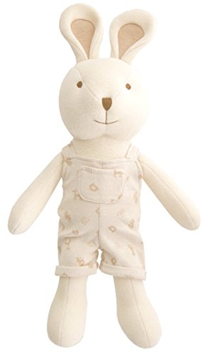 Organic Cotton Baby First Doll (No Dyeing Natural Organic Cotton) ... (Tommy the Bunny 19.6 ()