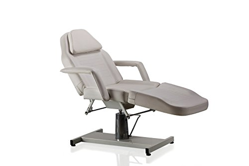Danyel Beauty Massage Facial Bed Adjustable Table Chair With Hydraulic Pump Beauty Spa Salon Tattoo (white)
