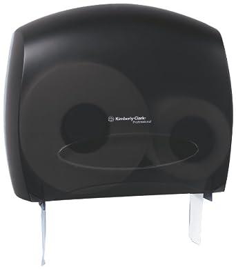 Kimberly-Clark Professional In-Sight 09507 Smoke Grey JRT Jr Escort Jumbo Roll Bath Tissue Dispenser with Stub Roll