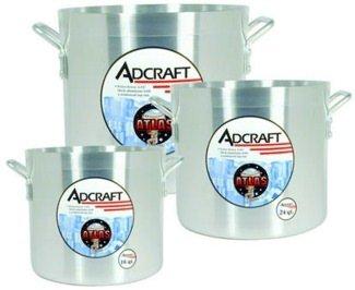 Adcraft H3-SP12 12 qt Aluminum Stock Pot with Reinforced Top Rim