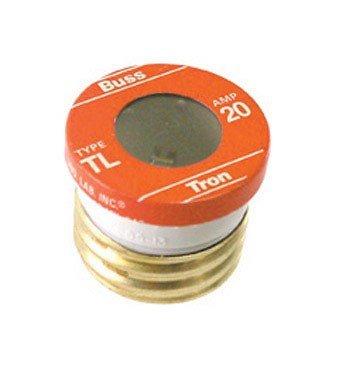 20 Delay Time Amp (Bussmann TL-20PK4 20 Amp Time Delay, Loaded Link Edison Base Plug Fuse, 125V UL Listed, 4-Pack)